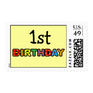 1st birthday postage stamps