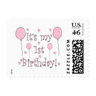 1st Birthday Postage Stamp