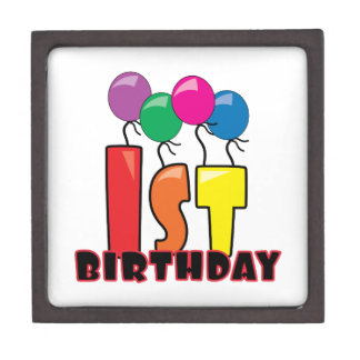 1st Birthday Premium Trinket Boxes