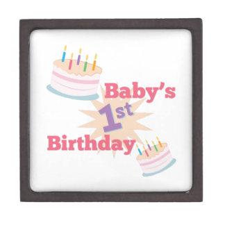 1st Birthday Premium Trinket Box