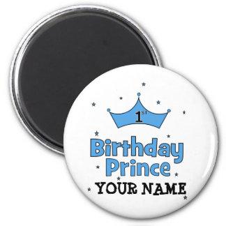 1st Birthday Prince 2 Inch Round Magnet