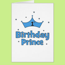 1st Birthday Prince Card