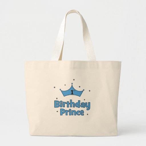 1st Birthday Prince Tote Bags