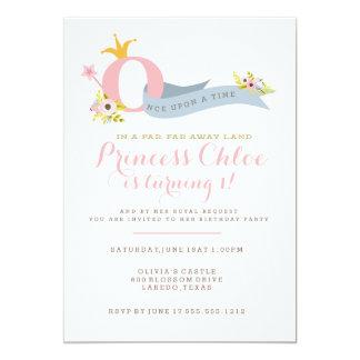 1st Birthday Princess Party Invitation