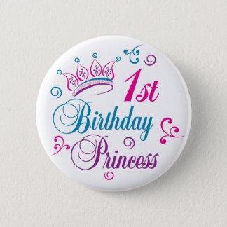 1st Birthday Princess Pinback Button