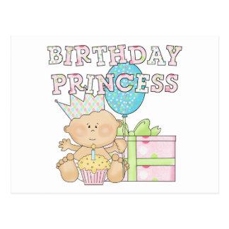 1st Birthday Princess With Crown Tshirts Postcard