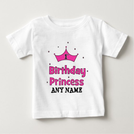 1st Birthday Princess!  with pink crown Shirts