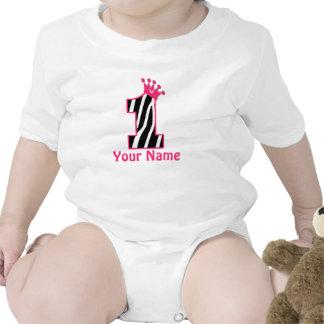1st Birthday Princess Zebra Print Shirt