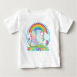 1st Birthday Rainbow Unicorn - Birthday Girl Baby T-Shirt