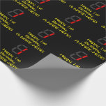 """[ Thumbnail: 1st Birthday: Red Digital Clock Style """"1"""" + Name Wrapping Paper ]"""