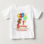 1st Birthday Regal Teddy Beary Custom Name T Shirt