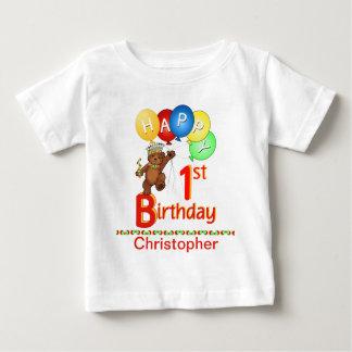 1st Birthday Regal Teddy Beary Custom Name T-shirt