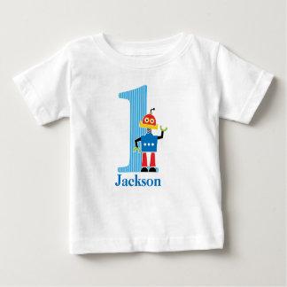 1st Birthday Robot T shirt