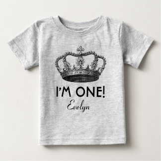 1st Birthday Royal Prince Crown One Year Old Baby T-Shirt