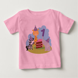 1st Birthday Safari Animals T-shirt