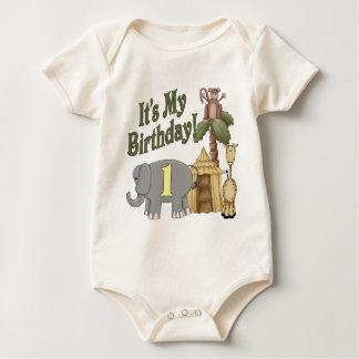 1st Birthday Safari Baby Creeper