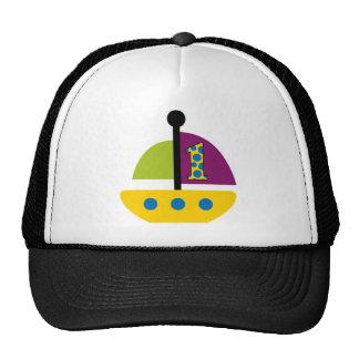 1st Birthday Sailboat Mesh Hat