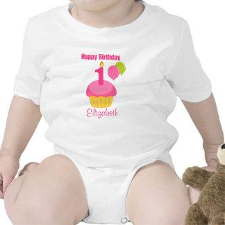 1st Birthday Shirt Pink Cupcake