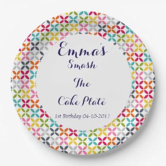 1st Birthday Smash The Cake Paper Plate
