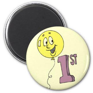 1st Birthday Smiling Balloon Magnet