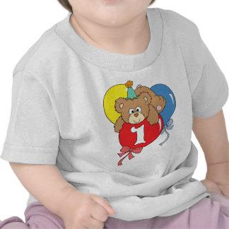 1st Birthday Teddy Bear 2 Shirts