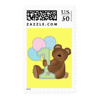 1st Birthday Teddy Bear (3) Postage