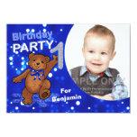 1st Birthday Teddy Bears Party, Custom Photo Personalized Invite