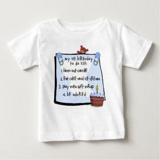 1st Birthday To Do's Blue Tee Shirt