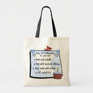 1st Birthday To Do's Blue Tote Bag