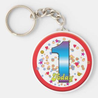 1st Birthday Today v2 Keychains