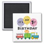 1st Birthday Train Birthday Fridge Magnet