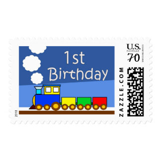 1st birthday train postage