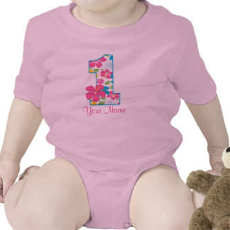 1st Birthday Tropical Personalized T-shirt