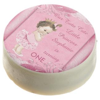 1st Birthday Tutu Cute Brunette Princess Lace Chocolate Dipped Oreo