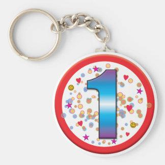 1st Birthday v2 Key Chain
