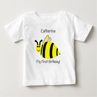1st Birthday Yellow Bumble Bee Kids' Shirt