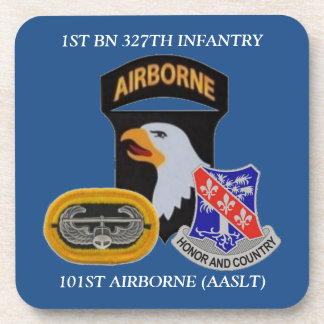 1ST BN 327TH INFANTRY 101ST ABN DRINK COASTERS