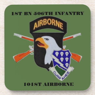 1ST BN 506TH INFANTRY 101ST ABN DRINK COASTERS