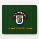 1st Bn, 75th Infantry - Rangers flash & scroll Mouse Pads