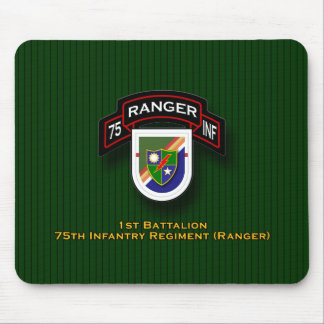 1st Bn, 75th Infantry - Rangers flash & scroll Mouse Pad