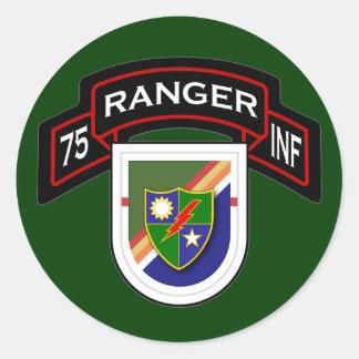 1st Bn, 75th Infantry Regiment - Rangers Classic Round Sticker