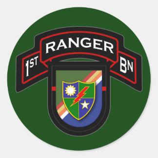 1st Bn, 75th Ranger Regiment - Airborne Classic Round Sticker