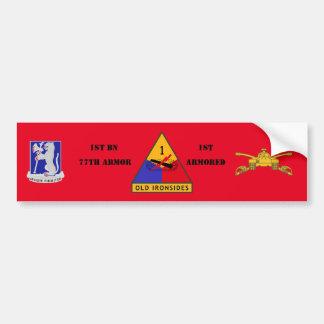 1ST BN 77TH ARMOR 1ST ARMORED BUMPER STICKER