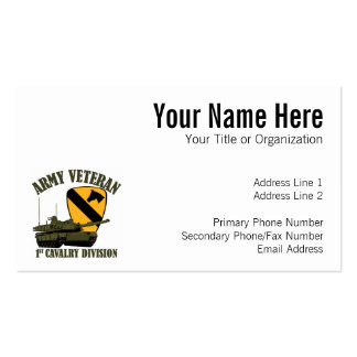 1st Cav Army Vet - M1 Tank Double-Sided Standard Business Cards (Pack Of 100)