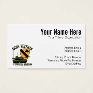 1st Cav Army Vet - M1 Tank Business Card
