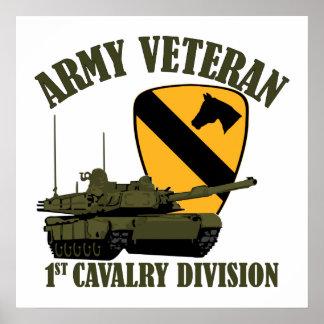 1st Cav Army Vet - M1 Tank Print