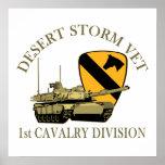 1st Cav Desert Storm Vet Print