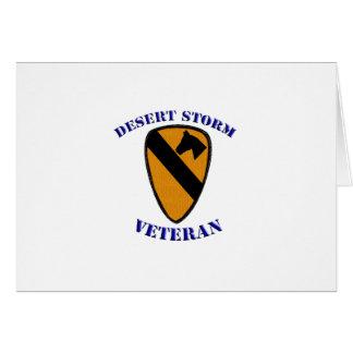 1st Cav Desert Storm Veteran Card