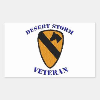 1st Cav Desert Storm Veteran Rectangular Sticker