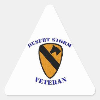 1st Cav Desert Storm Veteran Triangle Sticker